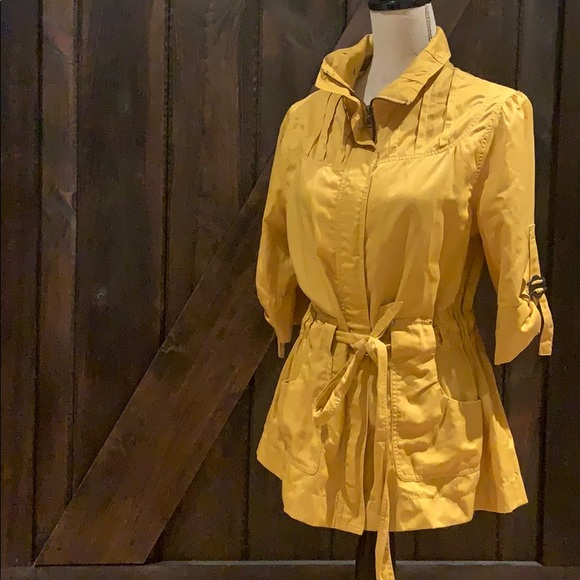 Goldenrod Mustard utility Talie jacket